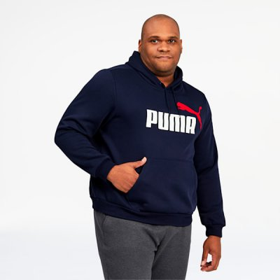 Essentials 2 Men's Big Logo Hoodie BT PUMA